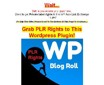 WP Auto Link Exchange Plugin + PLR Rights Coupon Codes