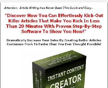 Instant Content Creator Coupon Codes