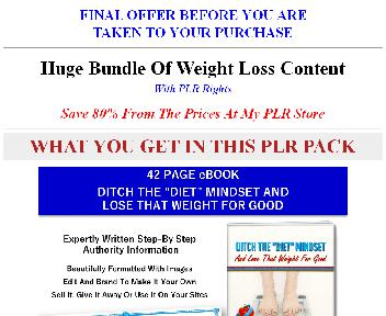 Big Bundle Of Quality Weight Loss PLR Coupon Codes