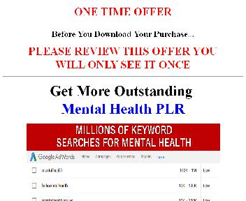 Mental and Emotional Health PLR Coupon Codes