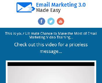 Email Marketing 3.0 HD Video Training UP discount code