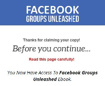 Facebook Groups Unleashed Video Coupon Codes