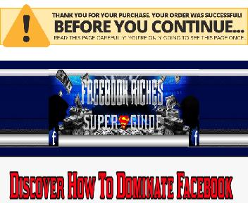 Facebook Riches Super Guide Video Training Software Special Offer discount code
