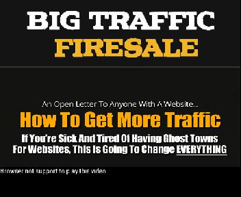 Big Traffic Firesale With Coupon Codes