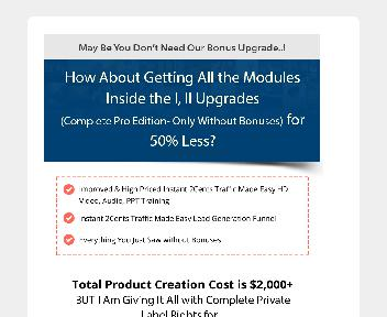 Instant 2Cents Traffic DFY Business Downsell discount code