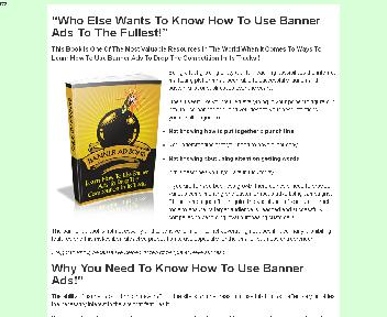 Banner Ad Bomb  Comes with Master Resale Rights discount code