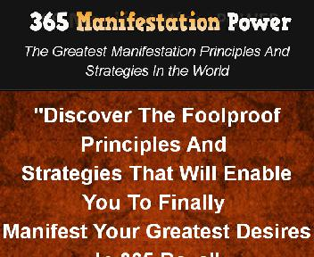 365 Manifestation Power eBook With Master Resell Rights discount code