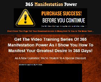 365 Manifestation Power Video Upgrade Master Resell Rights discount code