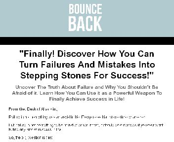 Bounce Back Guide Turning Failure into Success + 4 Bonuses Coupon Codes