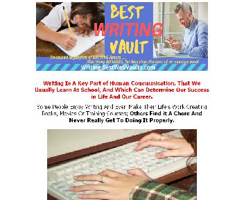 The BEST WRITING VAULT Coupon Codes