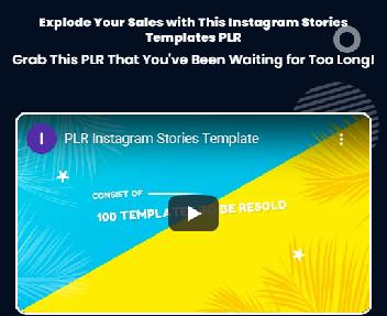PLR Instagram Stories Templates - Resell Right discount code