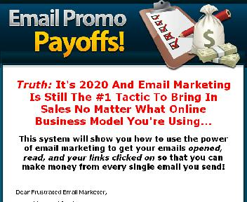 Email Promo Payoffs discount code