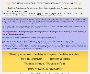 EXCLUSIVE AND COMPLETE KIT/MARKETING ON SOCIAL MEDIA Coupon Codes