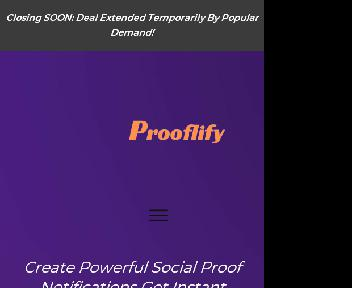 Prooflify Social proof Notifications $49 Coupon Codes