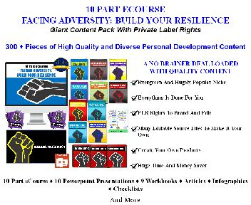 [Quality PLR] 10 Part eCourse: Facing Adversity: Build Your Resilience discount code