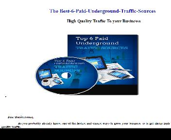 The Best-6-Paid-Underground-Traffic-Sources Coupon Codes