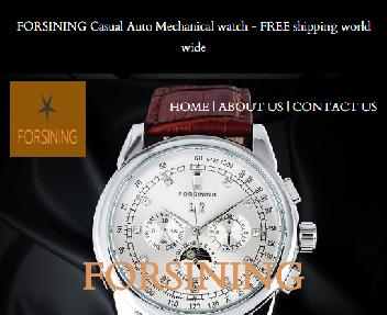 FORSINING Casual Auto Mechanical watch Coupon Codes