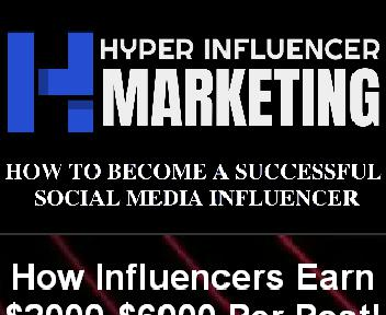 Hyper Influencer Marketing Master Resell Rights License discount code