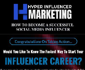 Hyper Influencer Marketing Video Upgrade Master Resell Rights License discount code