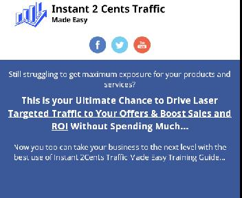Instant 2Cents Traffic DFY FE discount code