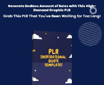 PLR Inspirational Quote Templates - Resell Right discount code