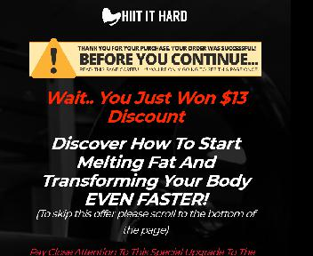 HIIT IT HARD Upgrade (Body Shaping) discount code