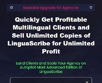 LinguaScribe Agency Elite Yearly discount code