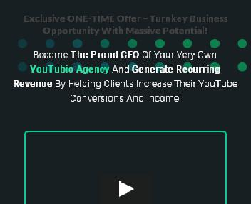 YouTubio - Agency Rights discount code