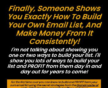 How to Build and Profit from Your Own Lists discount code