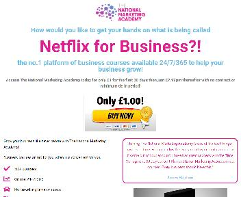 The National Marketing Academy - Monthly discount code