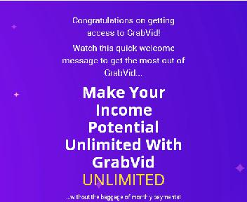 GrabVid Unlimited discount code