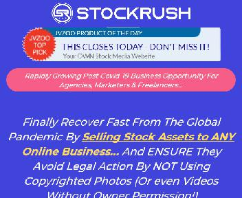 StockRush Personal - Worlds 1st Traffic & Sales Stock Media Platform w/ ZERO Monthly Fees discount code
