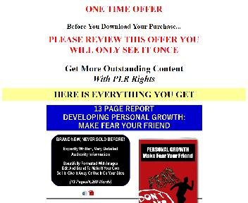 (Quality PLR] Overcome And Make Fear Your Friend (Introspect OTO 1) discount code
