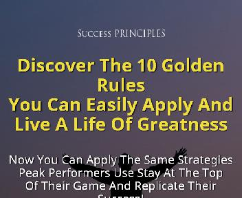 The Principles Of Success discount code