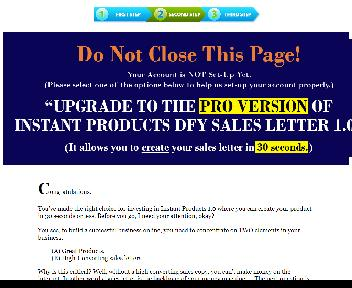 Instant Products DFY Sales Letters 1.0 - PLR discount code