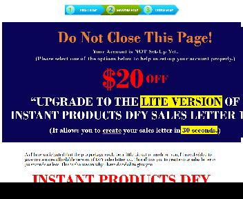 Instant Products DFY Sales Letters 1.0 - Downsell 01 - PLR discount code