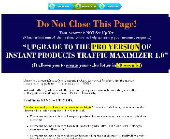 Instant Products Traffic Maximizer 1.0 - PLR discount code