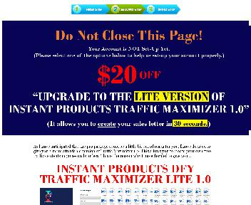 Instant Products Traffic Maximizer 1.0 - Downsell 02 - PLR discount code