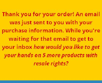 RR - The Big 5 Reseller Package Version 2 discount code