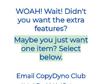 Email CopyDyno Coupon Codes