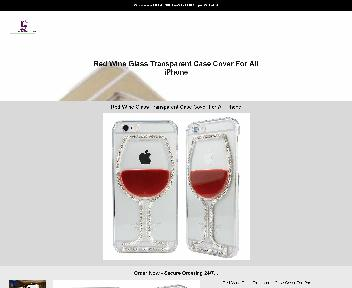 Red Wine Glass Transparent Case Cover For iPhone discount code