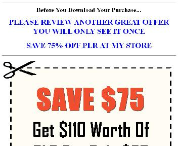 Save $75  $110 Worth Of Quality PLR For $35 (Mood OTO  2) discount code