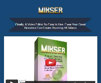 MIKSER™ Video Editor discount code