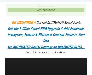 1-Click Social PRO for Unlimited Sites discount code