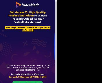 VideoMatic Done-For-You Templates - OTO2 discount code