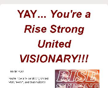 Rise Strong United VISIONARY LEADER - Upgrade (Will be a $997 coaching program) discount code