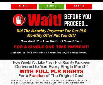 PLR Monster - PLR Monthly Special (Single Payment) discount code