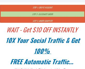 1-Click Social TRAFFIC for 100 Sites discount code