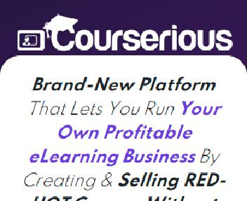 Courserious - Best Seller discount code