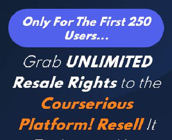 Courserious - Reseller discount code